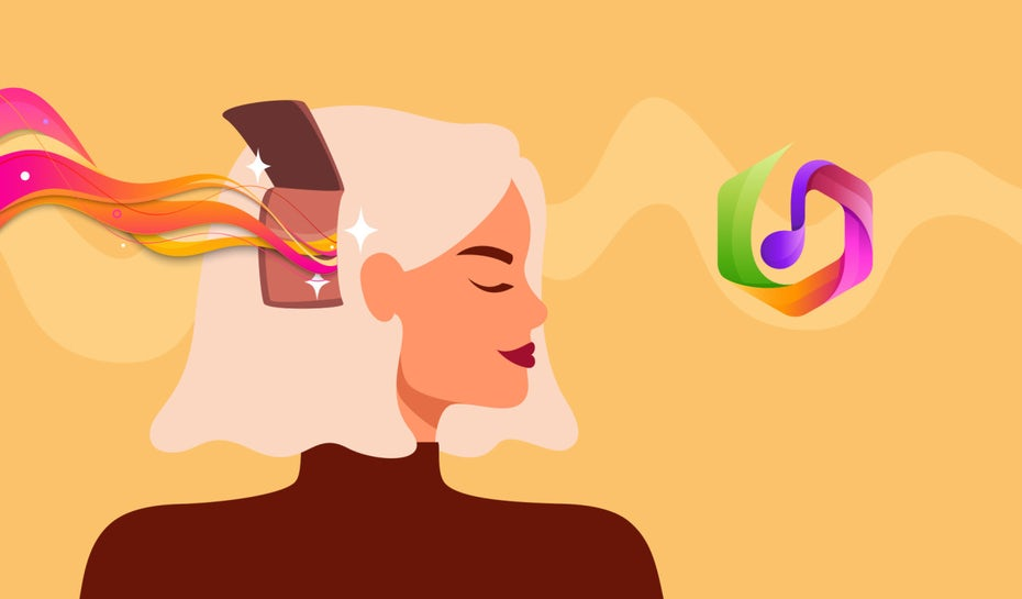 illustration of a woman that shows the effects of brand psychology in an abstract way