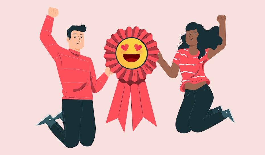 best eomjiy designers jumping for joy
