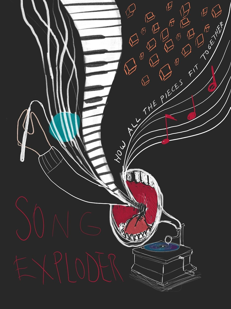 Initial Song Exploder poster concepts by Jen Se