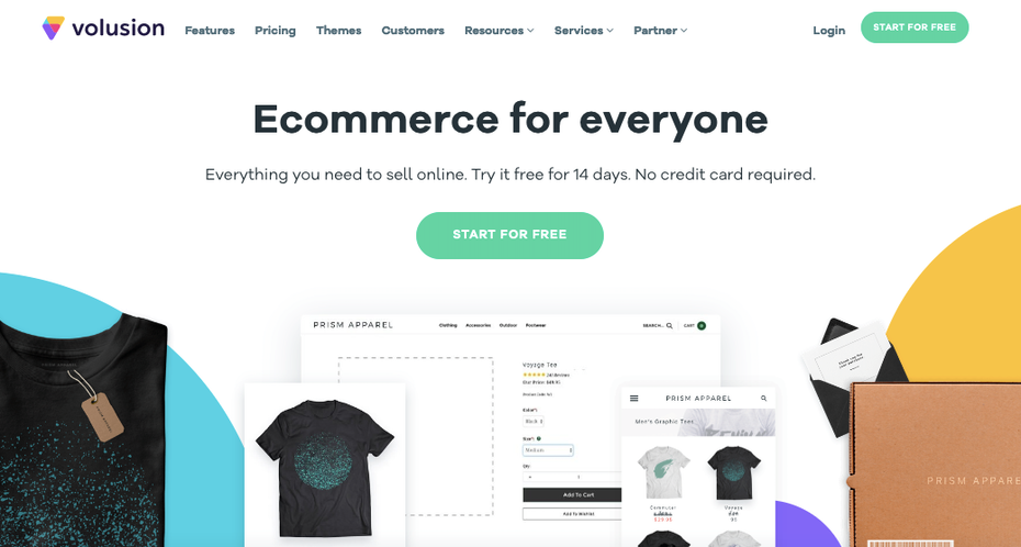 Screenshot of Shopify alternatives: Volution