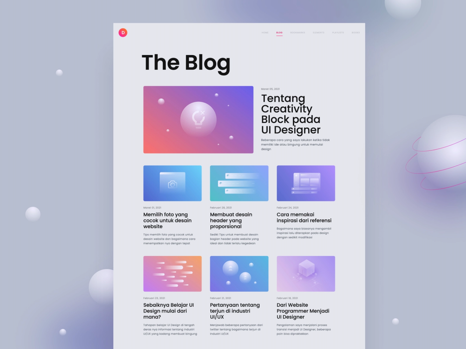 Personal blog design