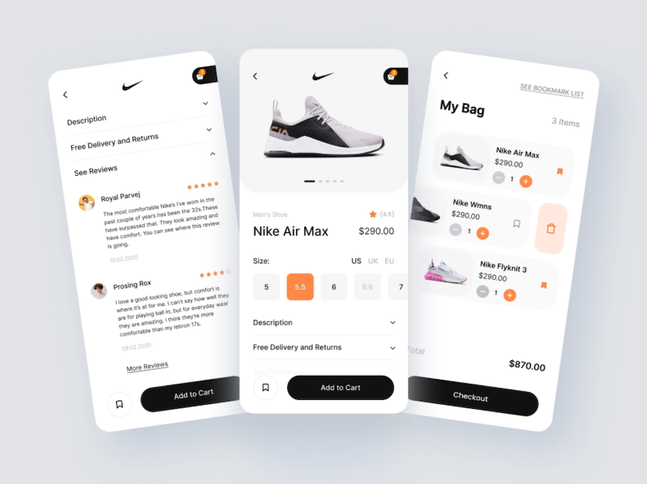 Product page design with customer reviews