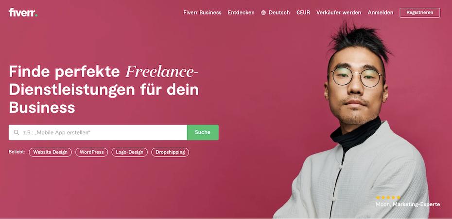 screenshot freelancer website fiverr