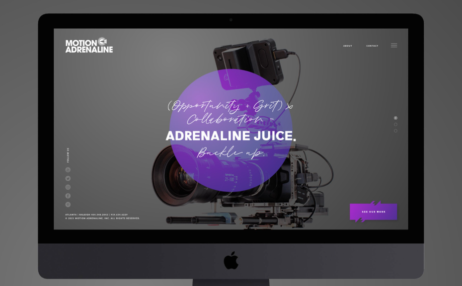Web design for a film production company