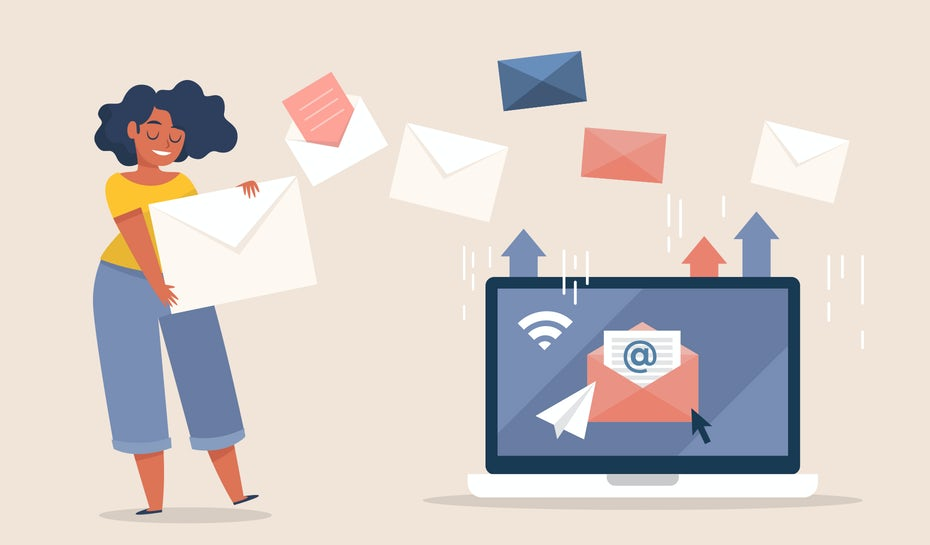 illustration of email marketing process
