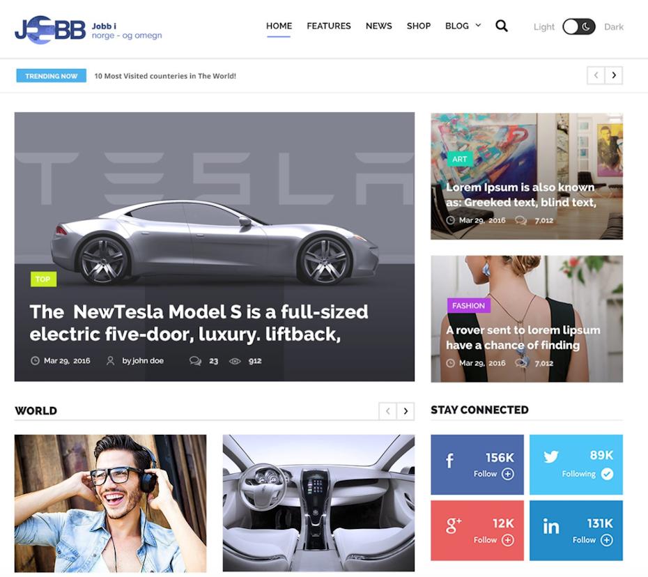 Blog design specialising in motor vehicles