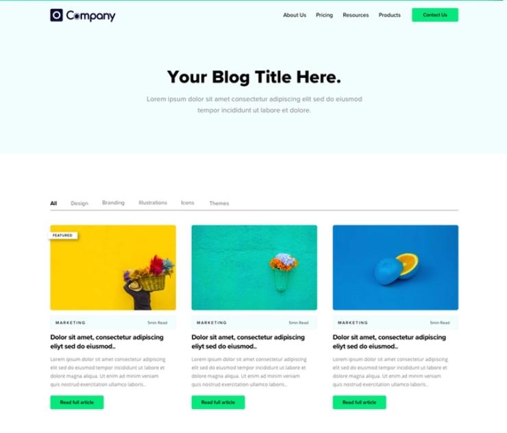 Multi-post blog design