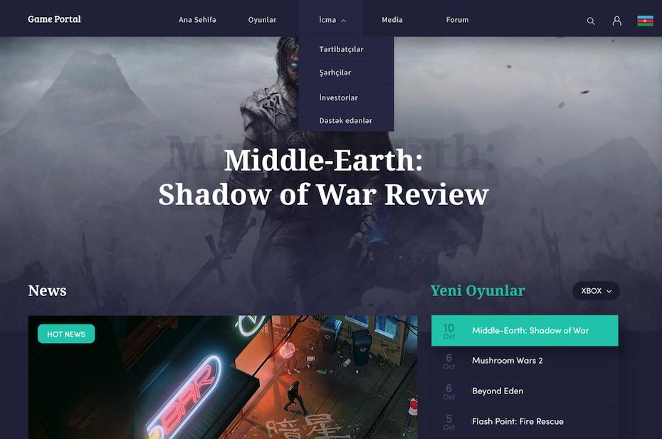 Dark mode blog design