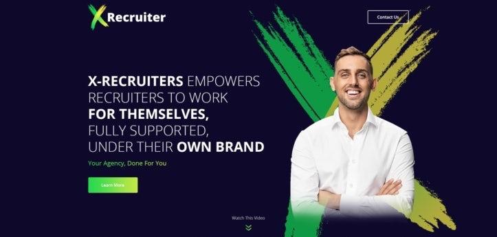 Web design for recruiting consultant