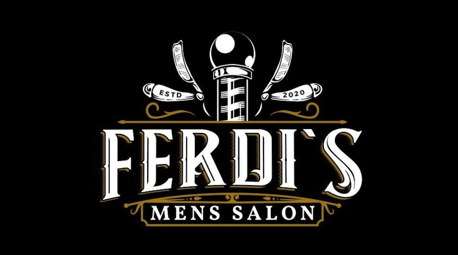 barbershop logo on dark mode