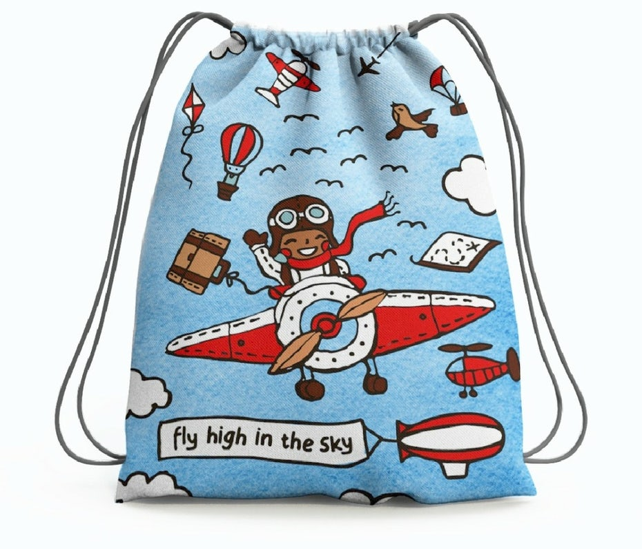 steering clear of bad branding: bag design featuring a pilot