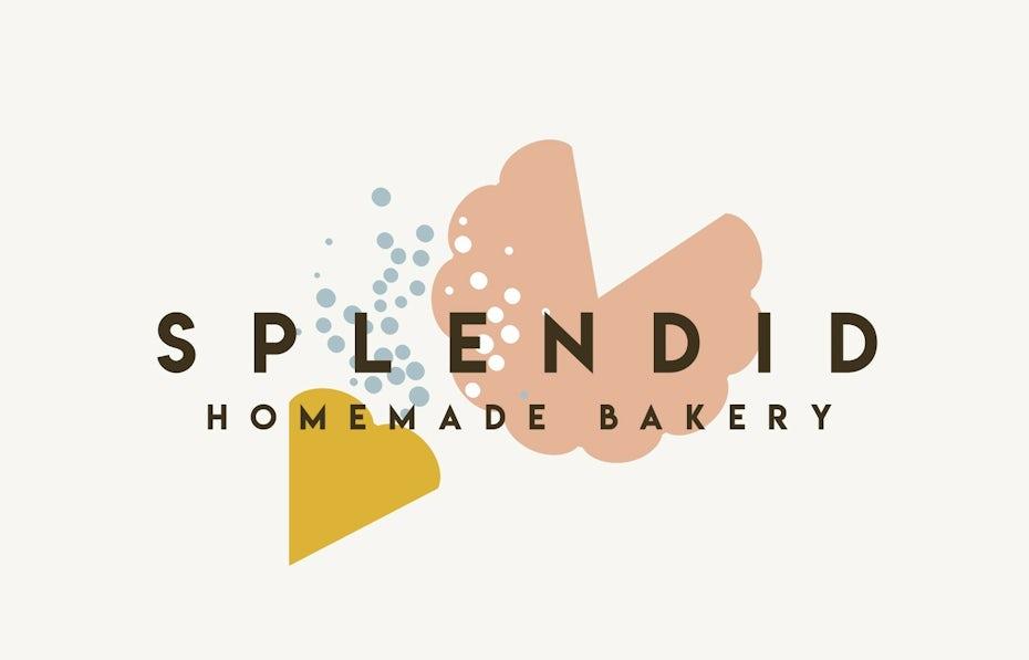 shapes of baked goods for bakery logo