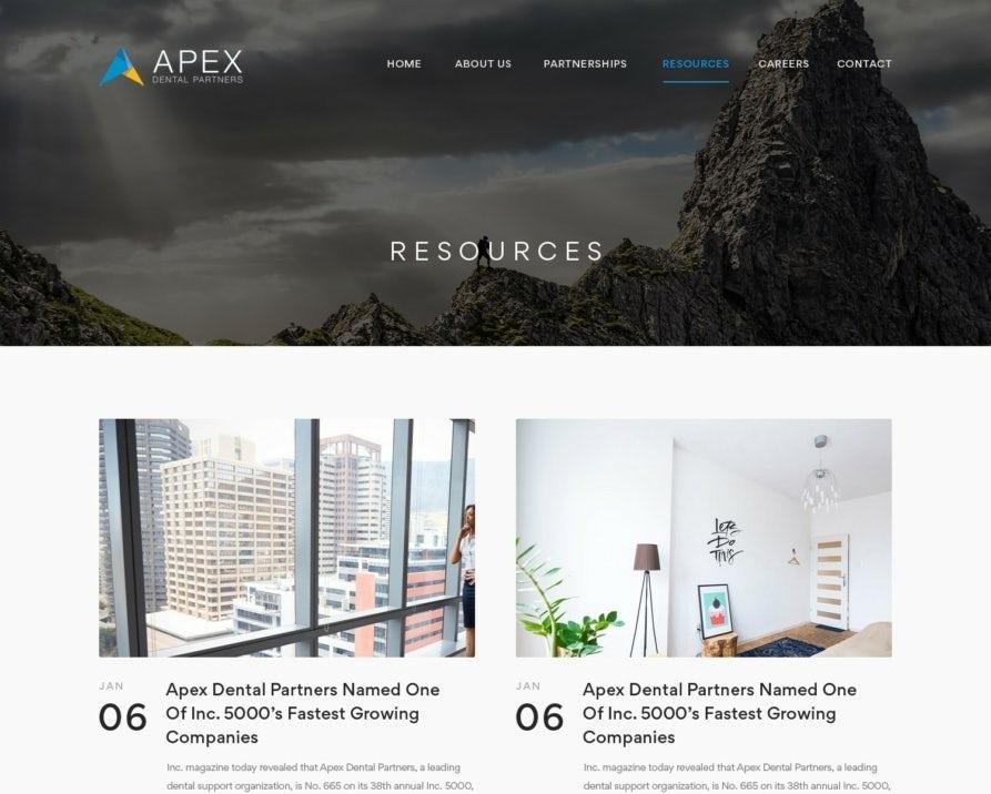 corporate-style blog design