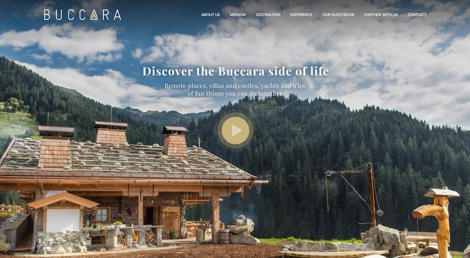 consistent design luxury travel website
