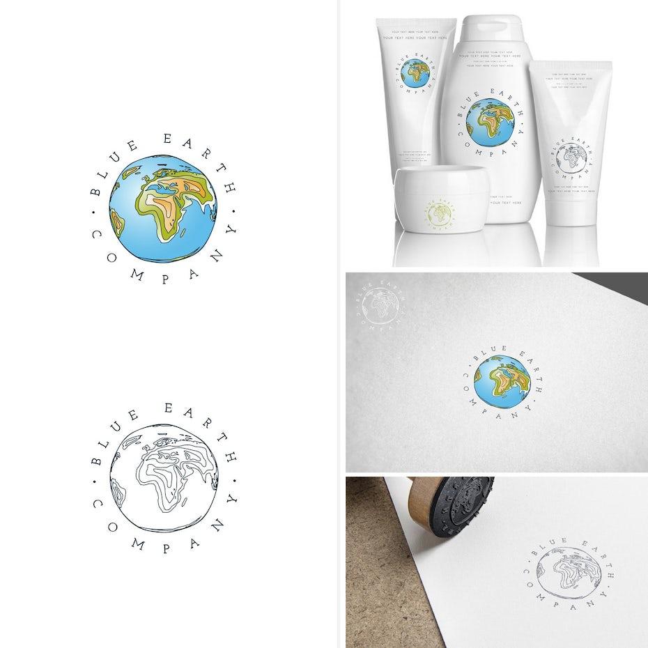 blue earth branding