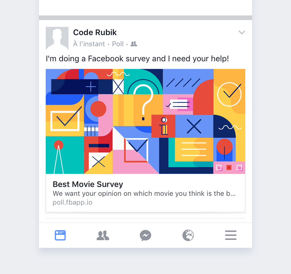 Facebook movie survey