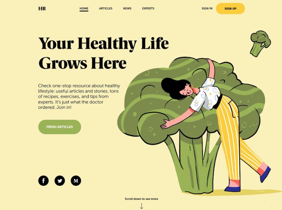 Health blog design
