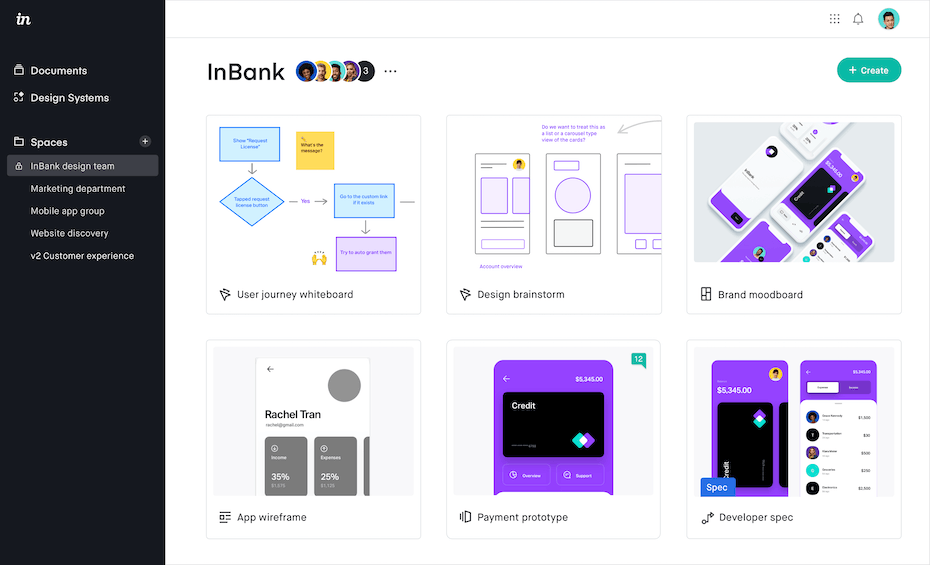 Product image from Invision's homepage