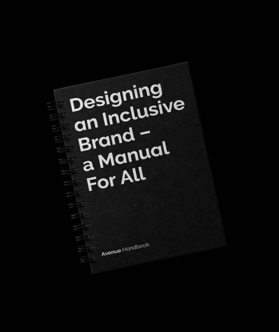 """A book with the name """"Designing an Inclusive Brand- a Manual for all"""""""