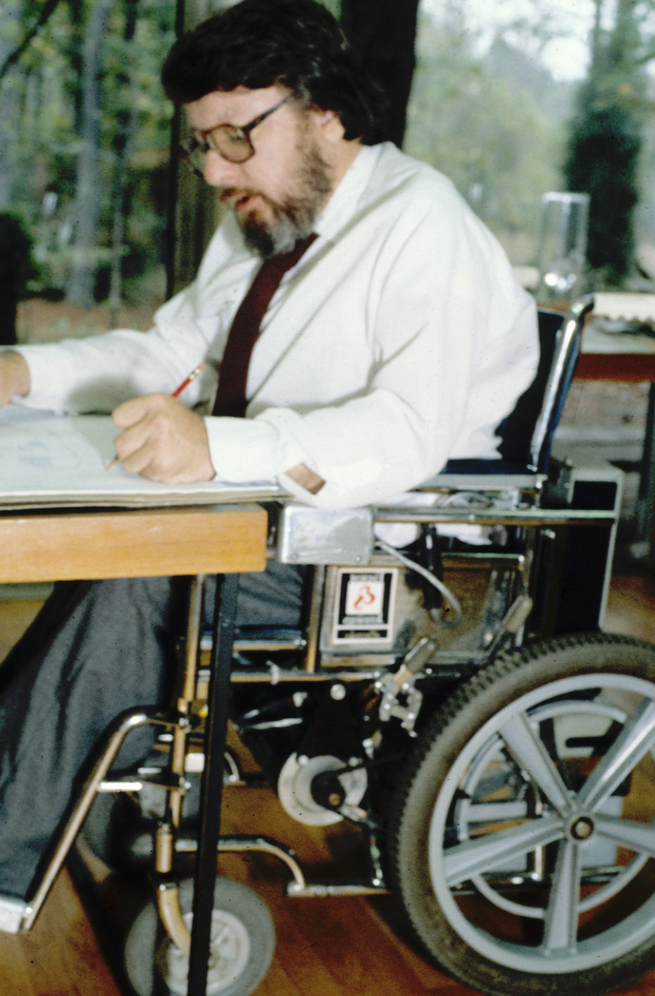 Photo of Ronald Mace in a wheelchair