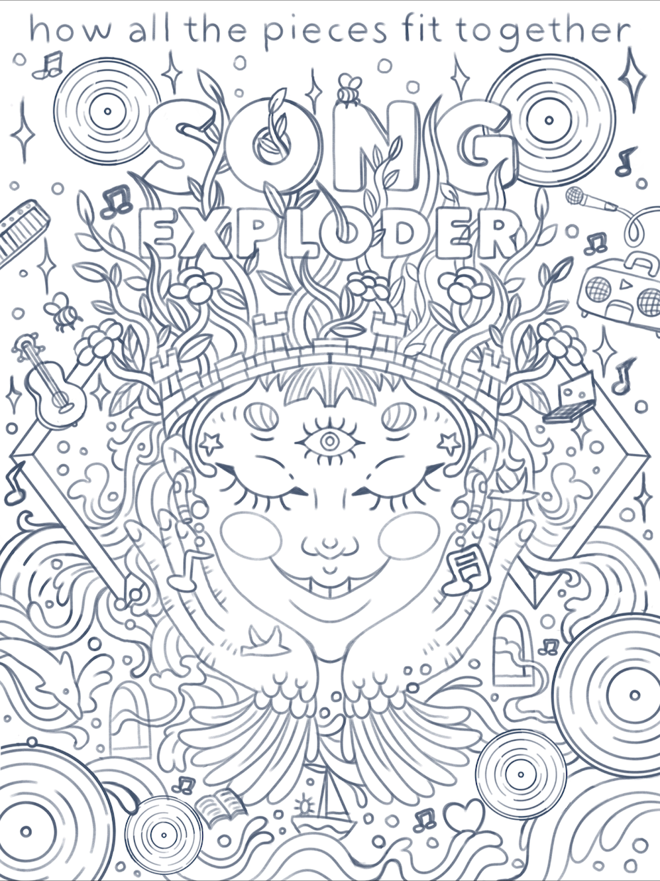 Initial Song Exploder poster concepts by Eliza Osmo