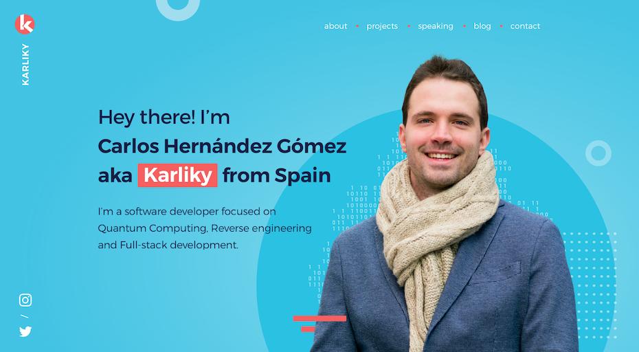 Portfolio blog design