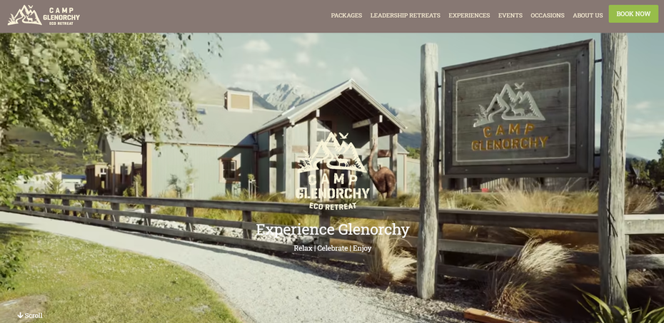 hotel website example with natural color palette