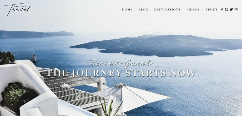 Travel blog design with stunning photography