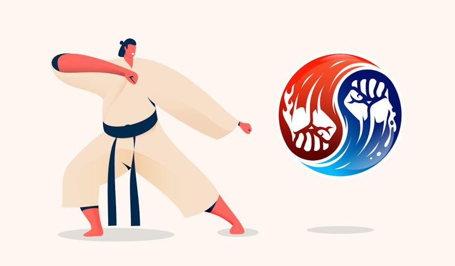 Martial arts logos