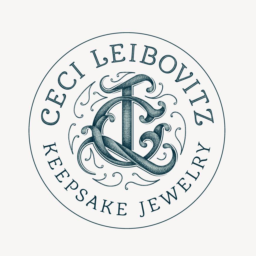 Vintage illustrated monogram logo design