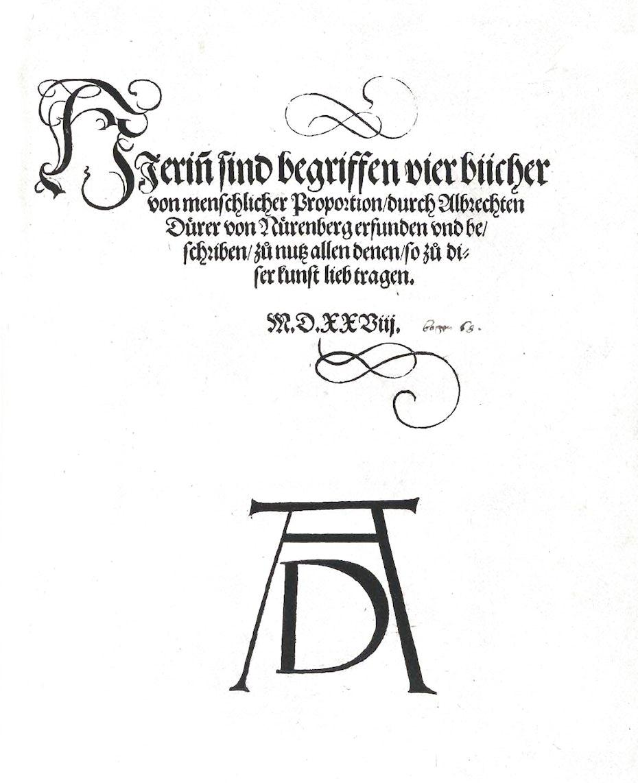 Monogram signature of artist Albrecht Dürer