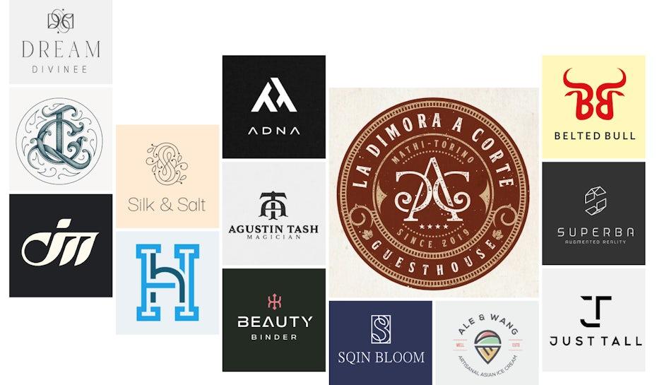 selection of monogram logos