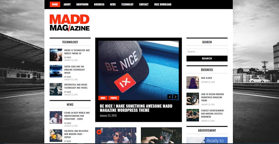 Madd Magazine screenshot