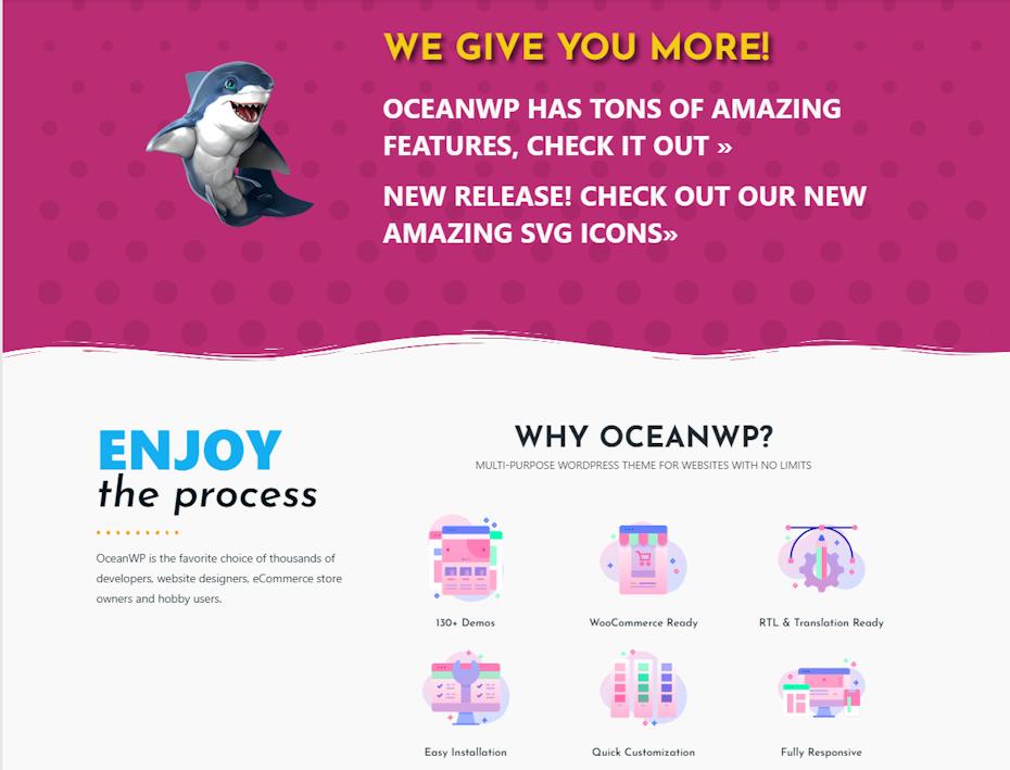 OceanWP screenshot