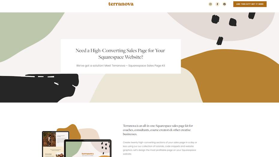 screenshot of TerraNova