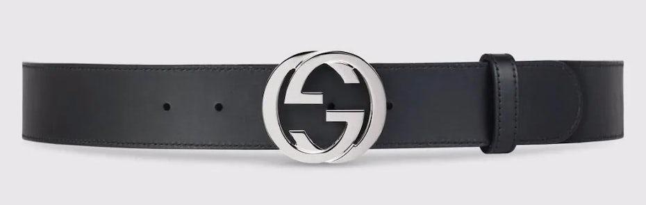 Gucci monogrammed belt buckle