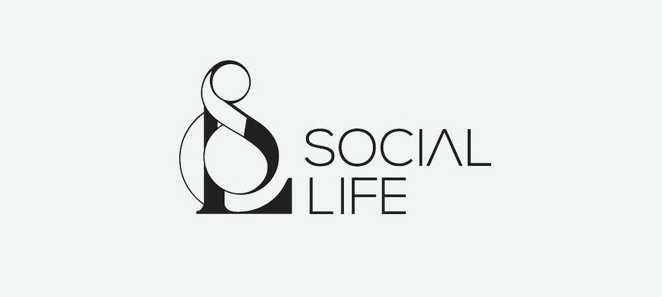 Elegant monogram logo design