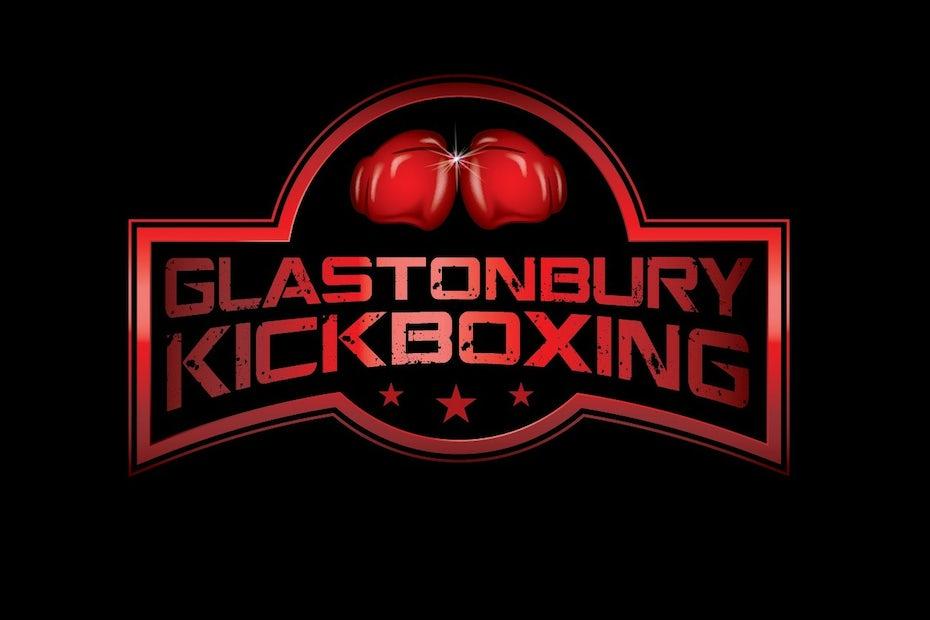 boxing logo showing punching gloves