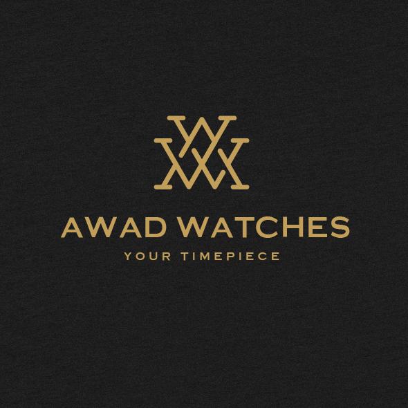 Monogram logo design for watch brand