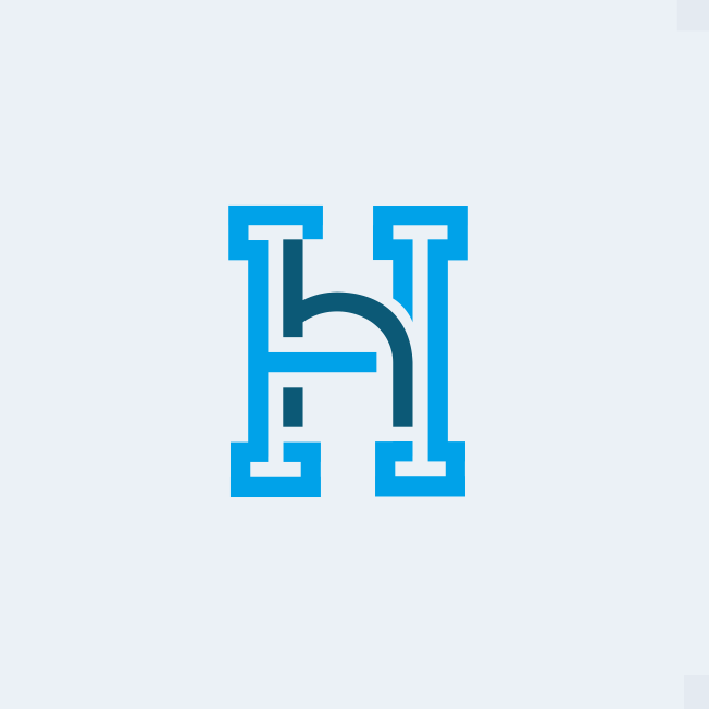 Monogram logo design for a real estate brand
