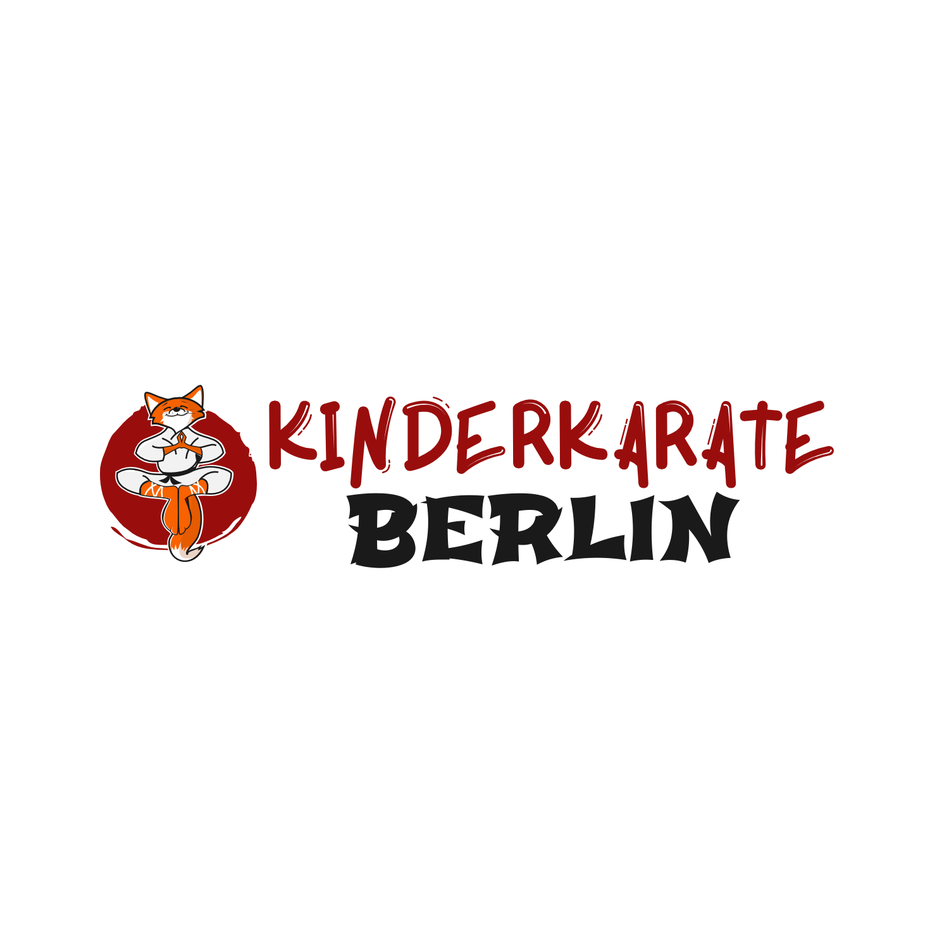 logo showing a fox in a karate uniform and text
