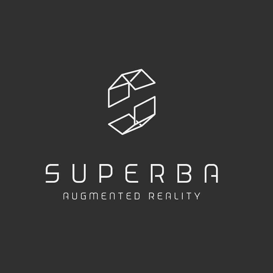 Geometric 3D monogram logo design