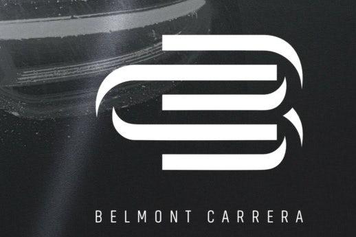 Metallic elegant monogram logo design