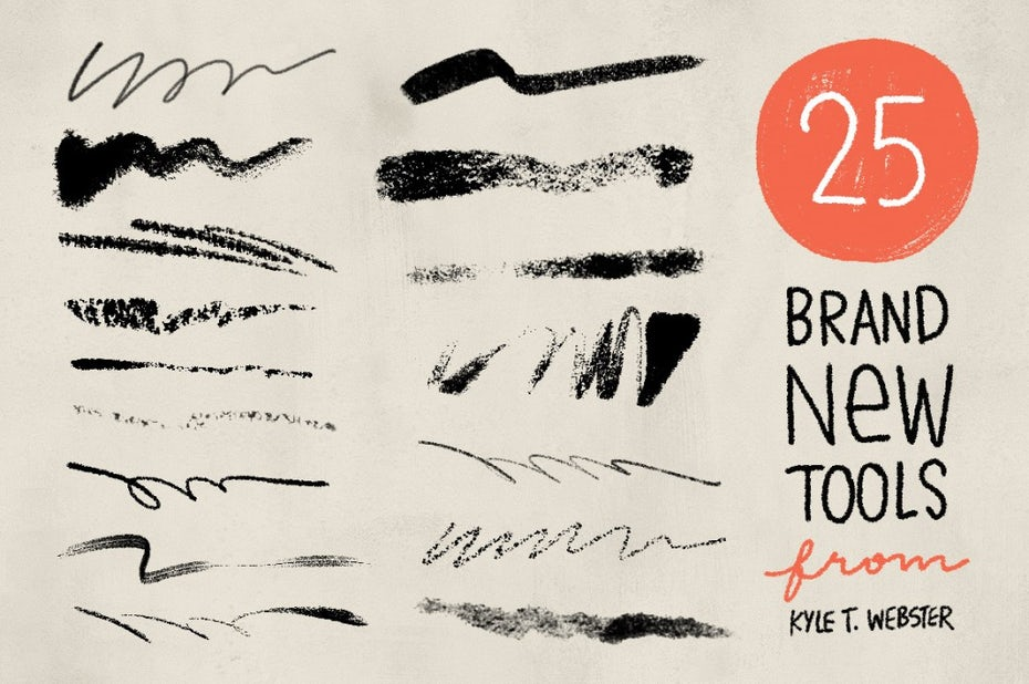 infographic showing a few of Kyle's Brushes
