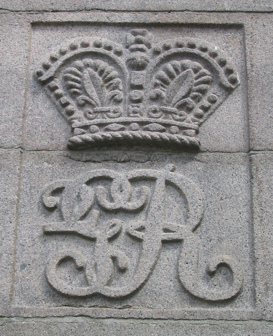 Royal cypher of King George II in stone