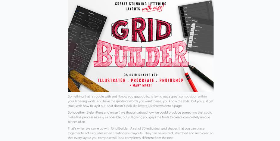 screenshot of Grid Builder page