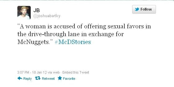 Alt text: Worst digital marketing campaigns of all time: McDonald's #McDStories