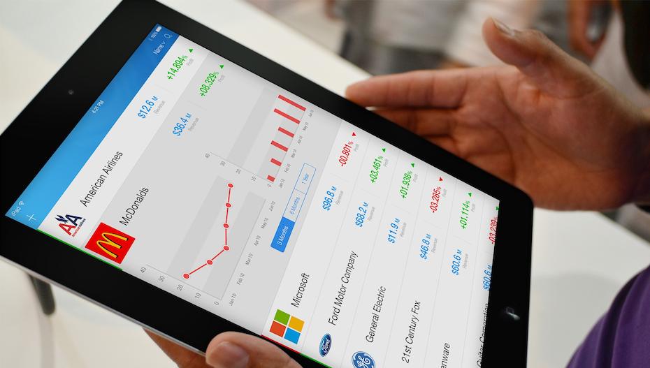 website analytics on an iPad screen