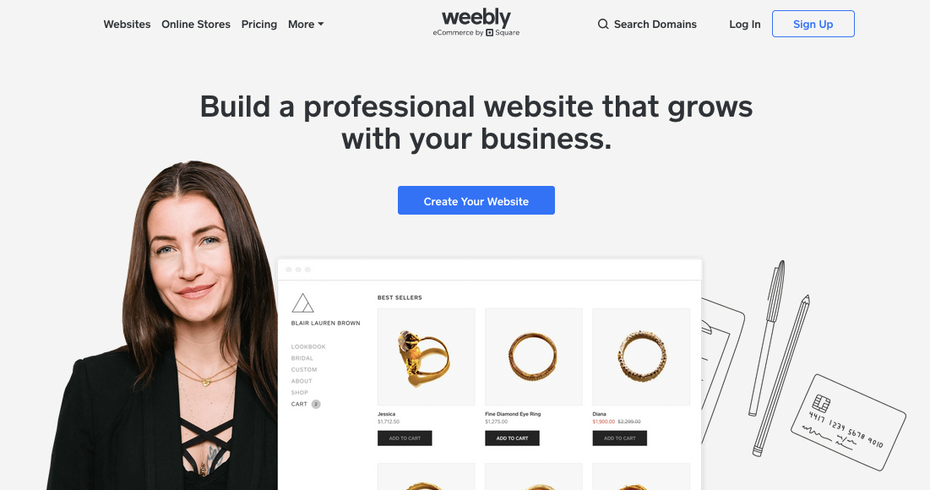 Wix alternative: Weebly