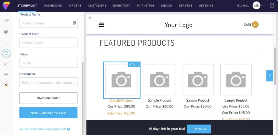 Best website builders for ecommerce example: Volusion